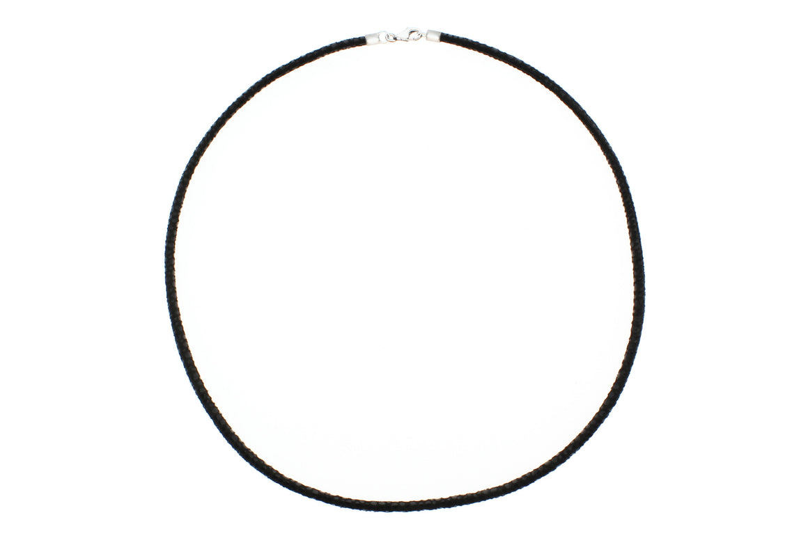 "Suede Leather with 925 Sterling Silver Clasp Necklace, 45cm (17.72"")"