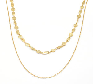 Alternate Round Rect Layering Necklace