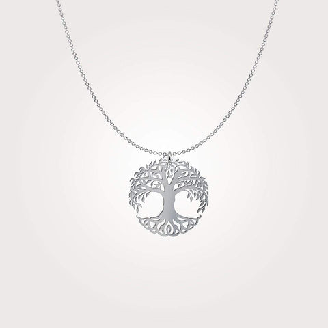 Image of Tree of Life Luxury Sterling Silver Pendant - Print Fads
