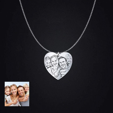 Love Family Photo Pendant - Print Fads