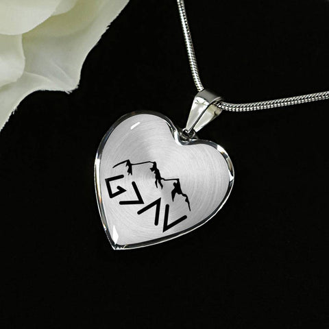 God Is Greater Than The Highs and Lows Luxury Heart Necklace - Print Fads