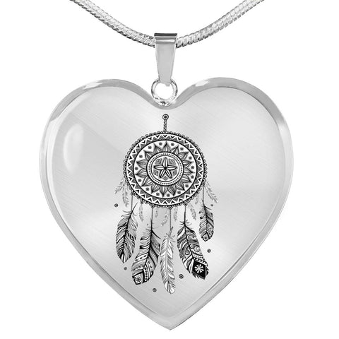 Mandala Heart Shaped Necklace - Print Fads