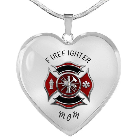 Firefighter Mom Luxury Pendant Charm Necklace