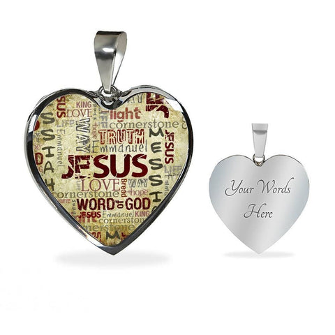 Image of Jesus Messiah Heart Luxury Necklace - Print Fads