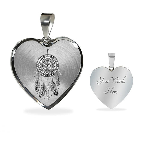 Mandala Heart Shaped Necklace