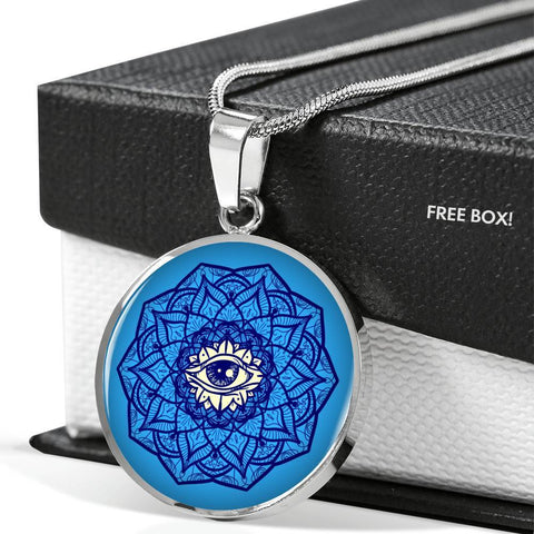 Image of Blue Mandala Eye Pendant - Print Fads