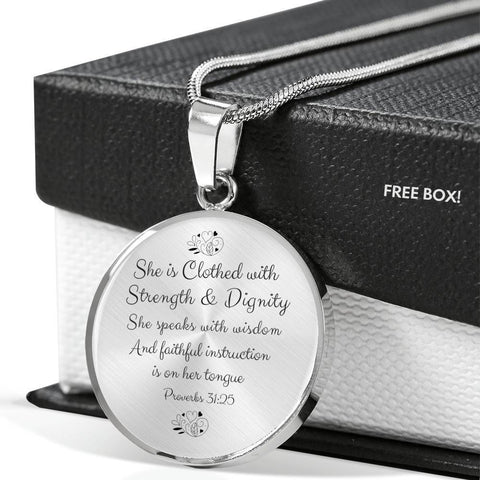 Proverbs 31 Keepsake Necklace - Print Fads