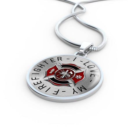 """I Love My Firefighter"" Luxury Pendant Necklace"