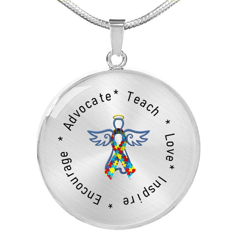 Image of Autism Angel Necklace - Print Fads