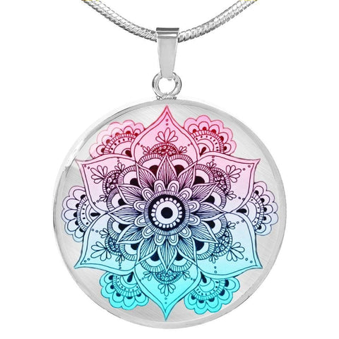 Mandala Circle Luxury Pendant Necklace - Print Fads