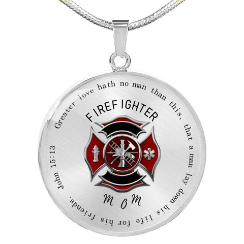 Fireman's Christian Mom Necklace - Print Fads