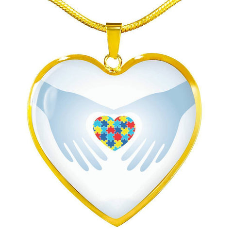 Heart In Hands Luxury Pendant Necklace - Print Fads