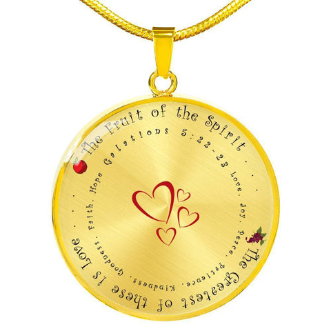 The Fruit of the Spirit Luxury Pendant Necklace - Print Fads