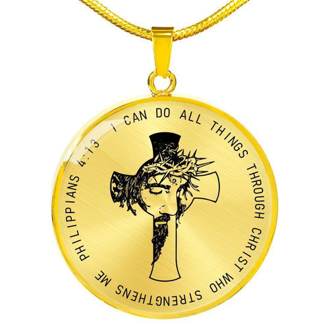 I Can Do All Things Through Christ Necklace - Print Fads