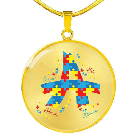 Image of Autism Advocate Luxury Necklace - Print Fads
