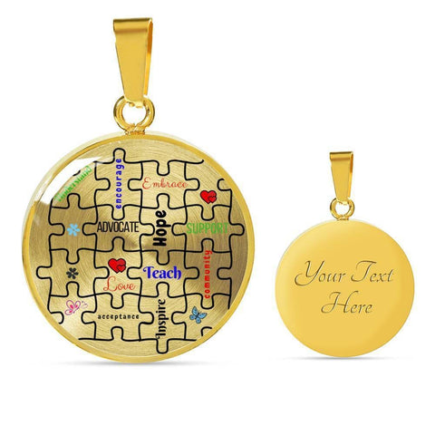 Autism Support Luxury Necklace - Print Fads