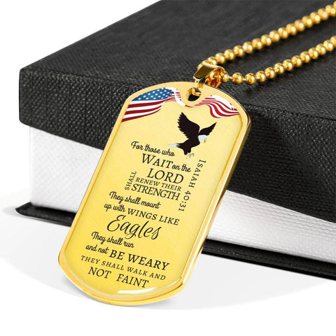 Image of Isaiah 40:31 Luxury Dog Tag - Print Fads
