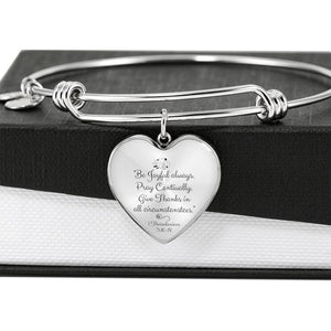 Be Joyful Heart Pendant Luxury Bangle/Bracelet - Print Fads