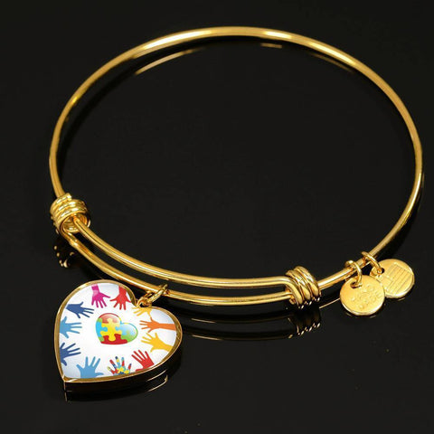 Heart In Hands Luxury Bangle - Print Fads
