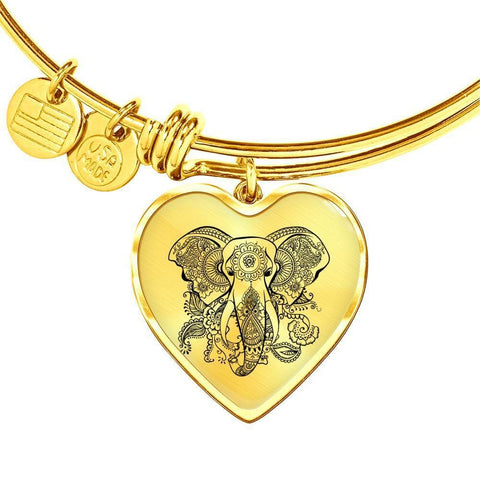 Mandala Elephant Bangle - Print Fads