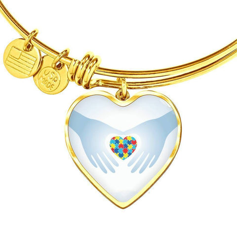 Heart In Hands Bangle - Print Fads