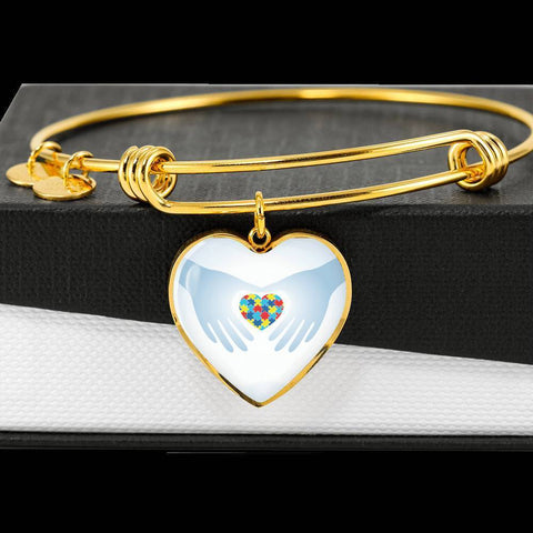 Heart In Hands Bangle