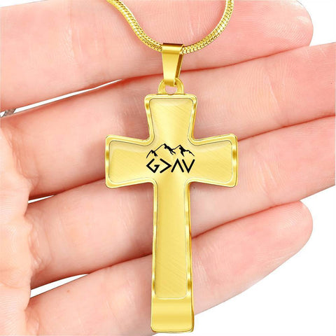 God Is Greater Than The Highs and Lows Luxury Cross Necklace - Print Fads