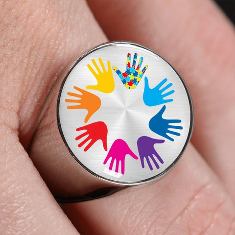 Autism Themed Signet Ring - Print Fads