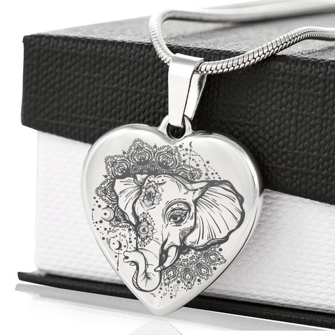 Dreamy Engraved Elephant Necklace - Print Fads