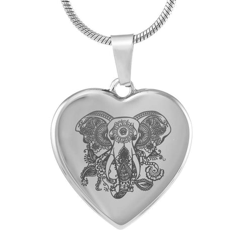 Custom Engraved Luxury Elephant Necklace With Option To Add Your Own Text! - Print Fads
