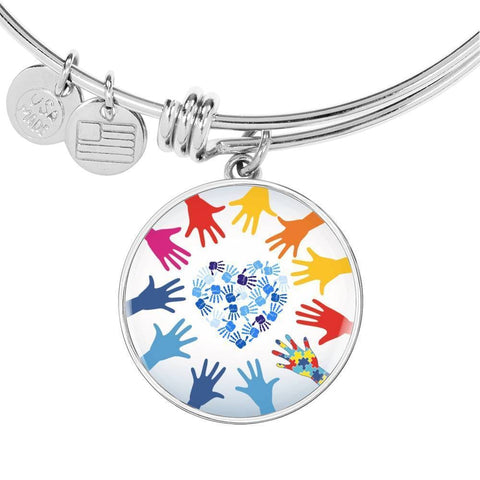 Autism Hands Luxury Bangle - Print Fads