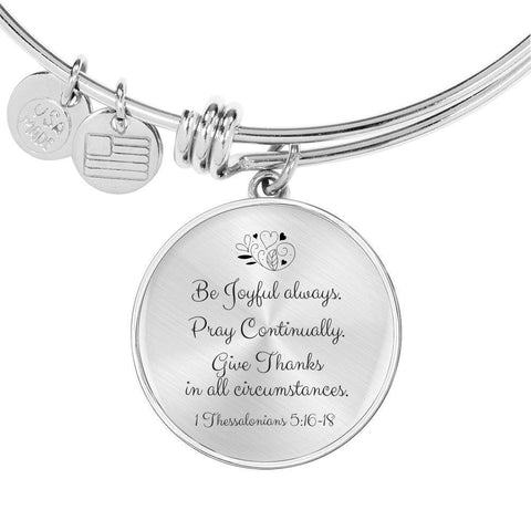 Be Joyful Always Luxury Pendant Bracelet - Print Fads
