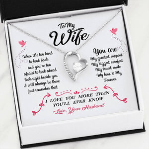To My Wife Valentines Day Forever Heart Necklace - Print Fads
