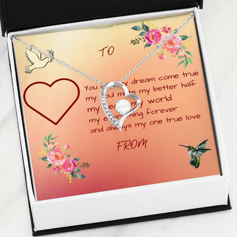 Forever Yours Heart Pendant With Photo Message Card
