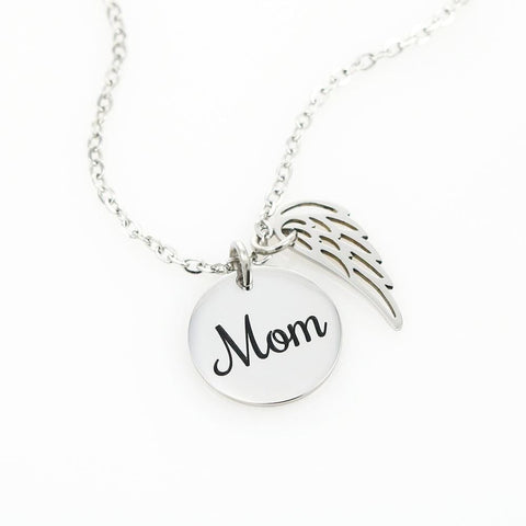 Mom Angel Necklace
