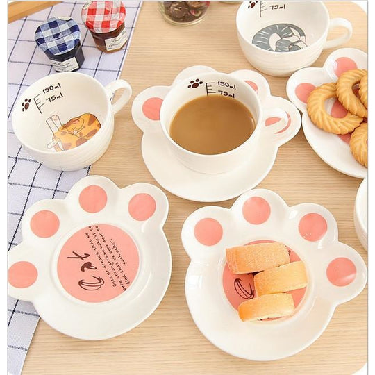 Kawaii Cat Mug Set