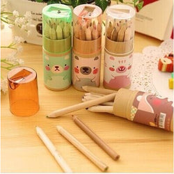 12 Pcs Kawaii Wood Colored Pencils
