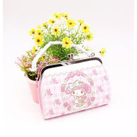 My Melody Checkered Floral Coin Purse