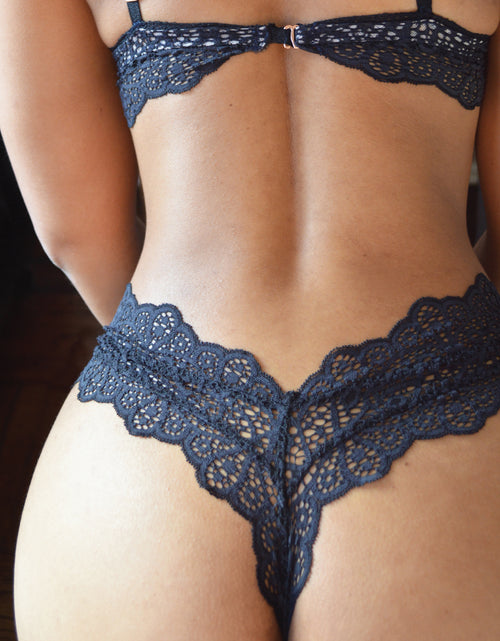 v-cut low thong