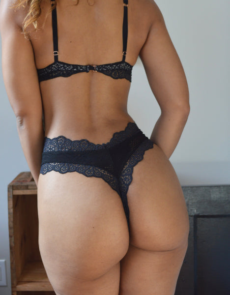 v-cut mid thong