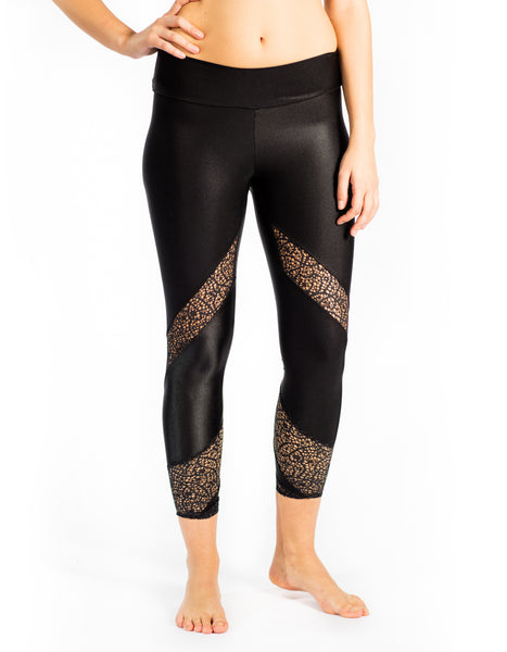 black shine legging