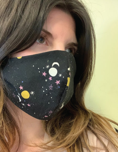 Adult Face Mask Moon + Stars
