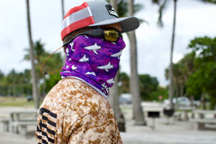 Purple Digi Camo BlacktipH Neck Scarf