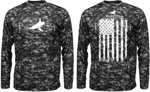 BLACKTIPH PERFORMANCE DIGITAL CAMO SHIRT - VERTICAL FLAG
