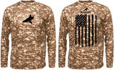 BLACKTIPH PERFORMANCE DIGITAL CAMO SHIRT - VERTICAL FLAG -- MEMORIAL DAY SPECIAL