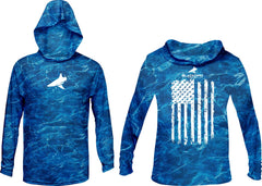 BlacktipH Patriotic Performance Distressed Hoodie