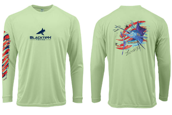 BLACKTIPH SAILFISH PERFORMANCE SHIRT- 4th OF JULY EDITION