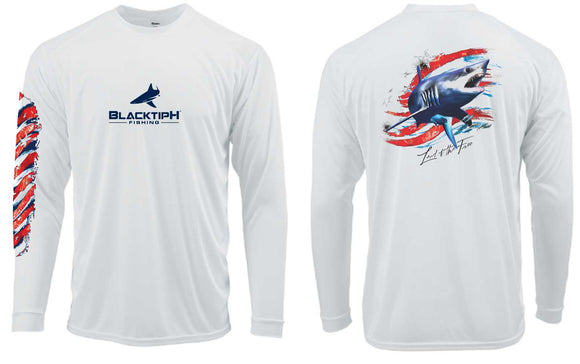 BLACKTIPH MAKO SHARK PERFORMANCE SHIRT- 4th OF JULY EDITION