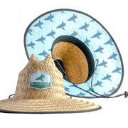 BlacktipH Sea-foam Blue Straw Hat