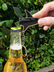 BlacktipH Silver Bottle Opener Key Chain